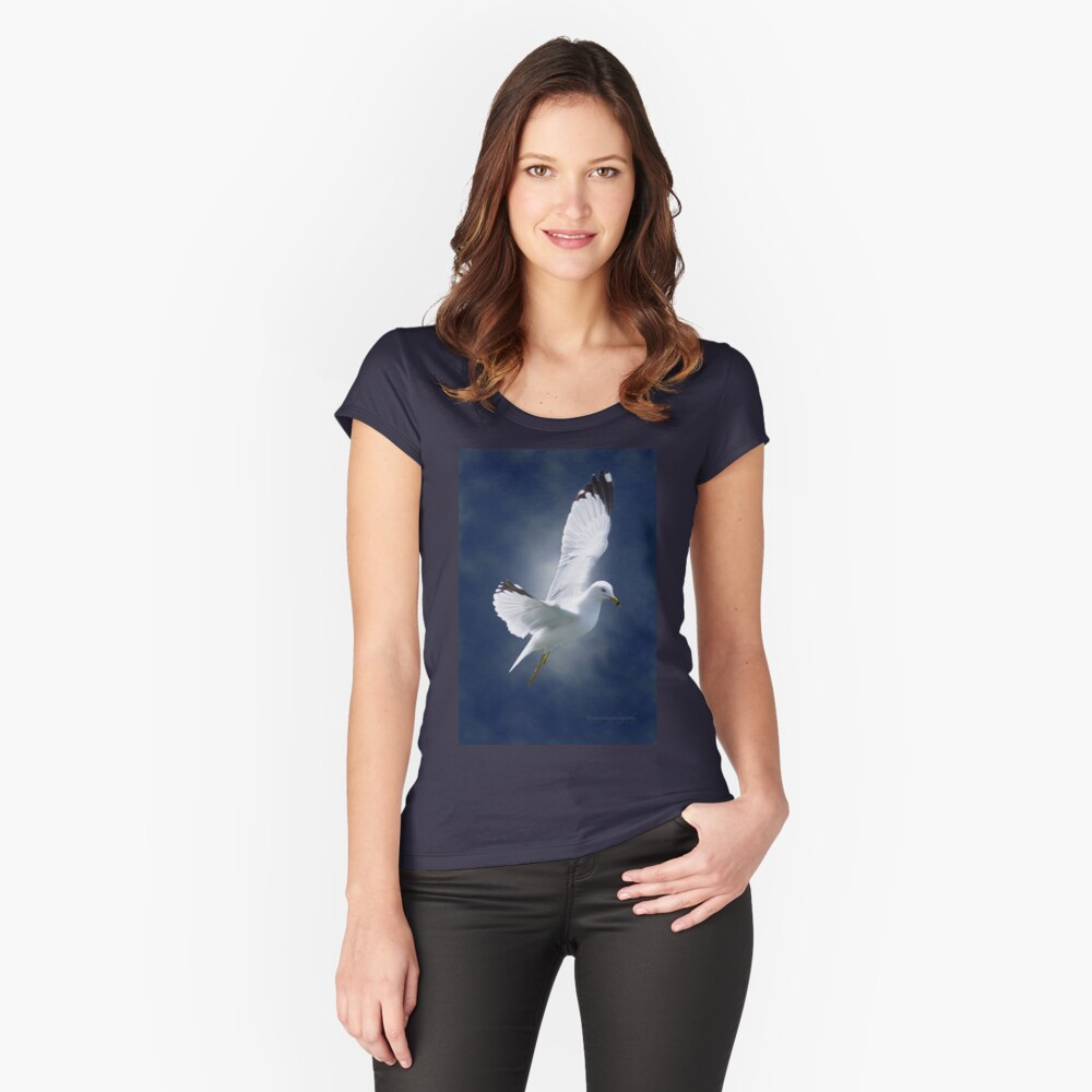 White Gull Women's Fitted Scoop T-Shirt Front