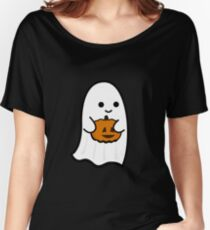 Cute Ghost's Jack o' Lantern Women's Relaxed Fit T-Shirt