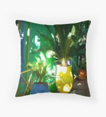 Colouful Pot Plants Throw Pillow