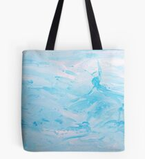 Floats - abstract acrylic painting in blues Tote Bag