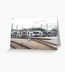 Green Line on the Run  Greeting Card