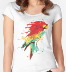 Splash The Parrot.. Women's Fitted Scoop T-Shirt