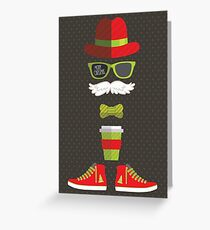 Hipster Santa Greeting Card