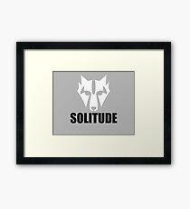 Solitude Wolf Framed Print