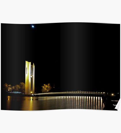 Canberra Carillon at Night Poster