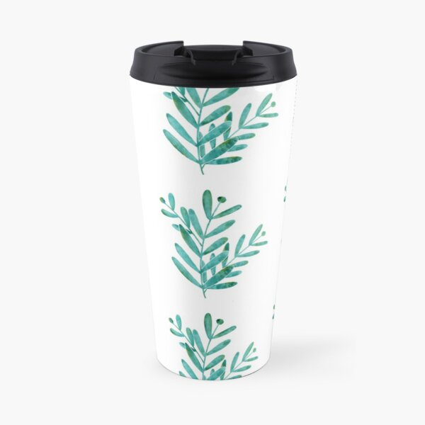 Watercolor leaves Travel Mug