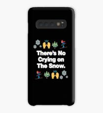 Theres No Crying on The Snow Emoji Funny Skiing Saying Case/Skin for Samsung Galaxy