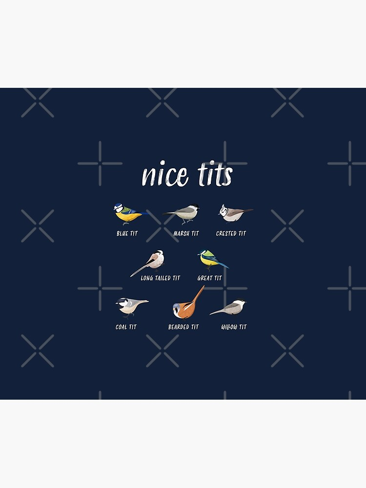 Nice tits funny bird watching gift for Birder Men and Women by Qwerty-Designs