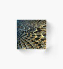 Mandelbulb Waves Acrylic Block