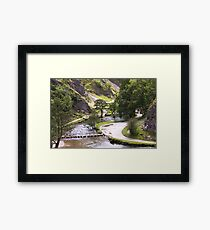 Dovedale Watercolour. Framed Print