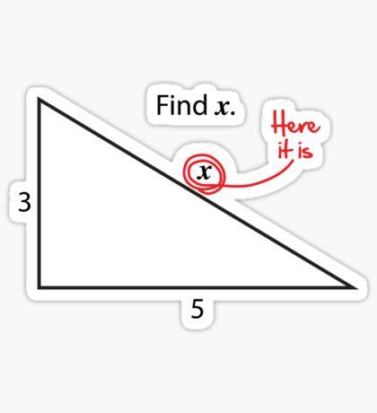 Find X Sticker