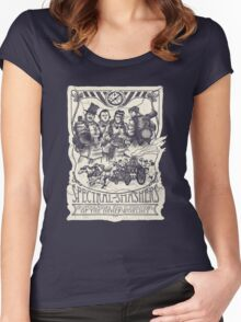 Spectral Smashers on dark shirt Women's Fitted Scoop T-Shirt