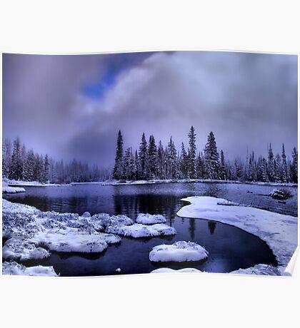Cold Snow at Big Lake Poster