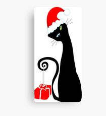 Purrfect Christmas Canvas Print