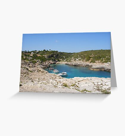 A quiet bay in Menorca. Greeting Card