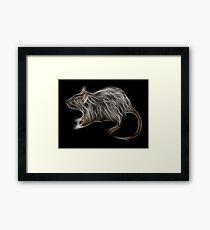 Rat - Chinese Zodiac by Liane Pinel Framed Print