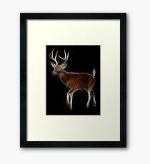 Medicine Wheel Totem Animals by Liane Pinel- Deer Framed Print