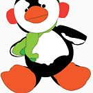 Oswald T. Penguin - T-shirt by michaelcrizzi