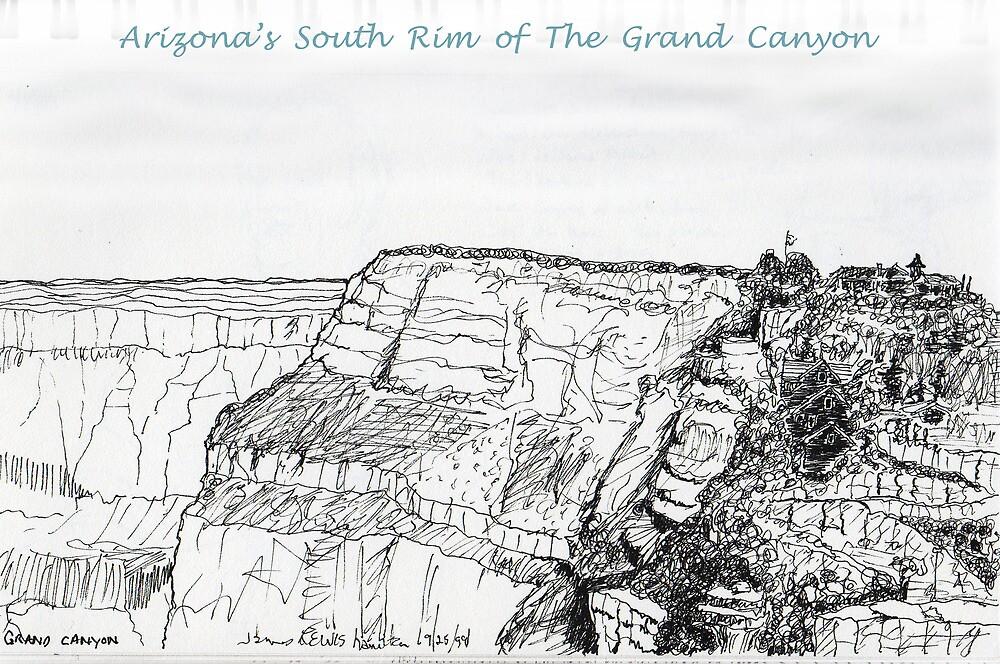 A GRAND Canyon sketch by James Lewis Hamilton