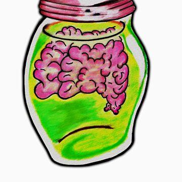 Zombie Brain Jar  by americanzombie