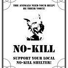 NO-KILL UNITED : ES SUPPORT NO-KILL SHELTERS (PRINT) by Anthony Trott