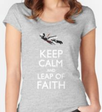 Keep Calm and Leap of Faith Women's Fitted Scoop T-Shirt