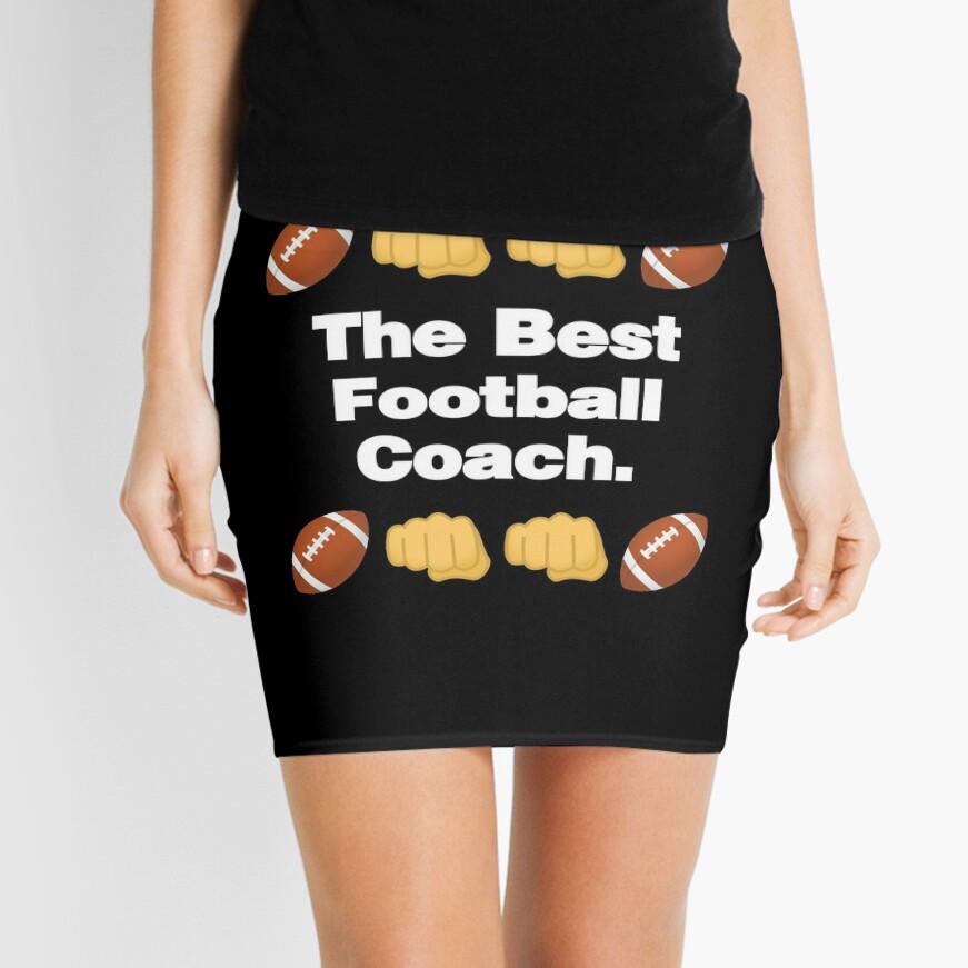 The Best Football Coach Emoji American Football Saying Mini Skirt