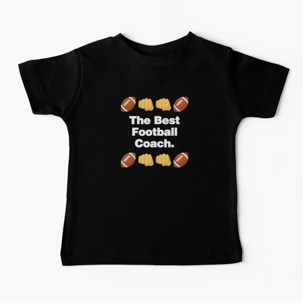 The Best Football Coach Emoji American Football Saying Baby T-Shirt