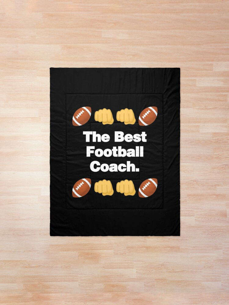 Alternate view of The Best Football Coach Emoji American Football Saying Comforter