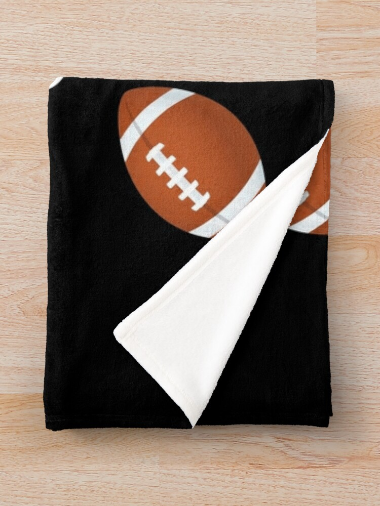Alternate view of The Best Football Coach Emoji American Football Saying Throw Blanket