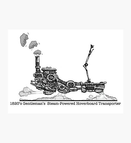 1820's Gentleman's Steam-Powered Transporter Photographic Print