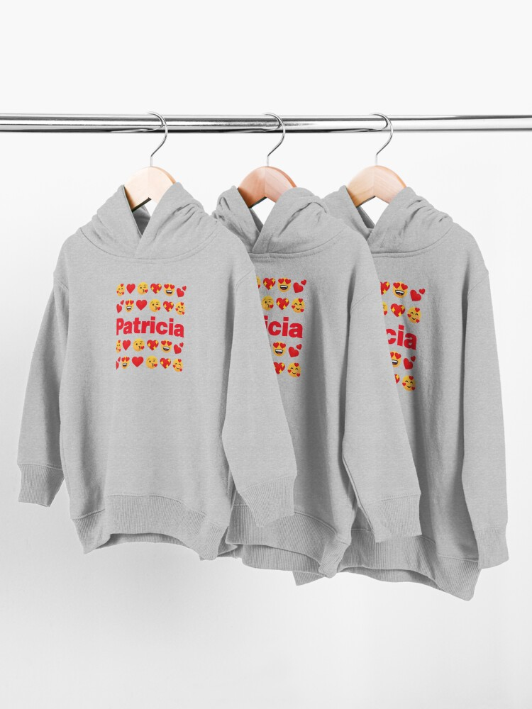 Alternate view of Patricia Emoji My Love for Valentines day Toddler Pullover Hoodie