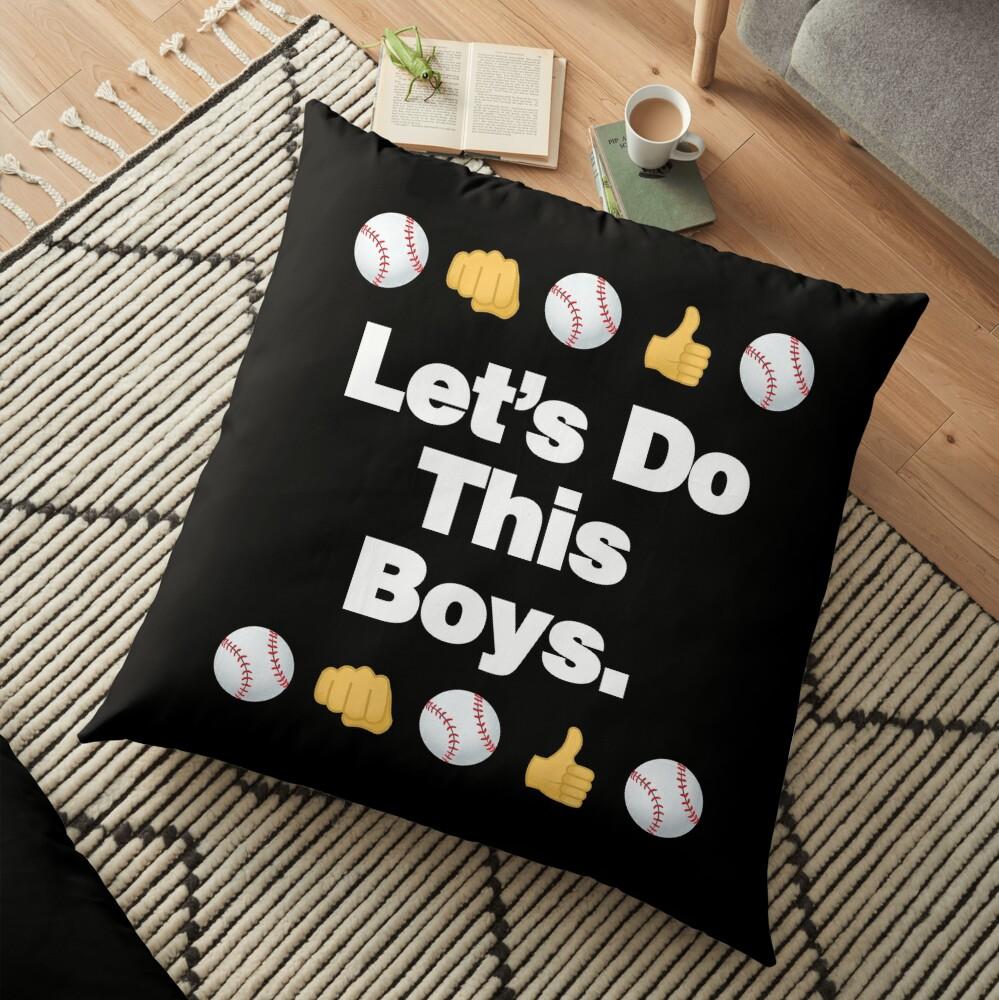 Lets Do This Boys Emoji Funny Baseball Saying Floor Pillow