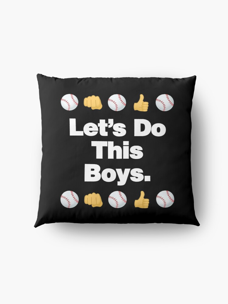 Alternate view of Lets Do This Boys Emoji Funny Baseball Saying Floor Pillow