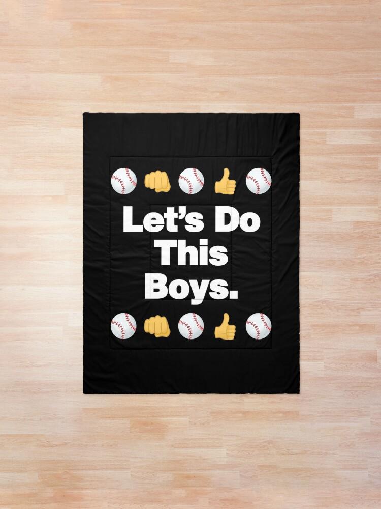 Alternate view of Lets Do This Boys Emoji Funny Baseball Saying Comforter