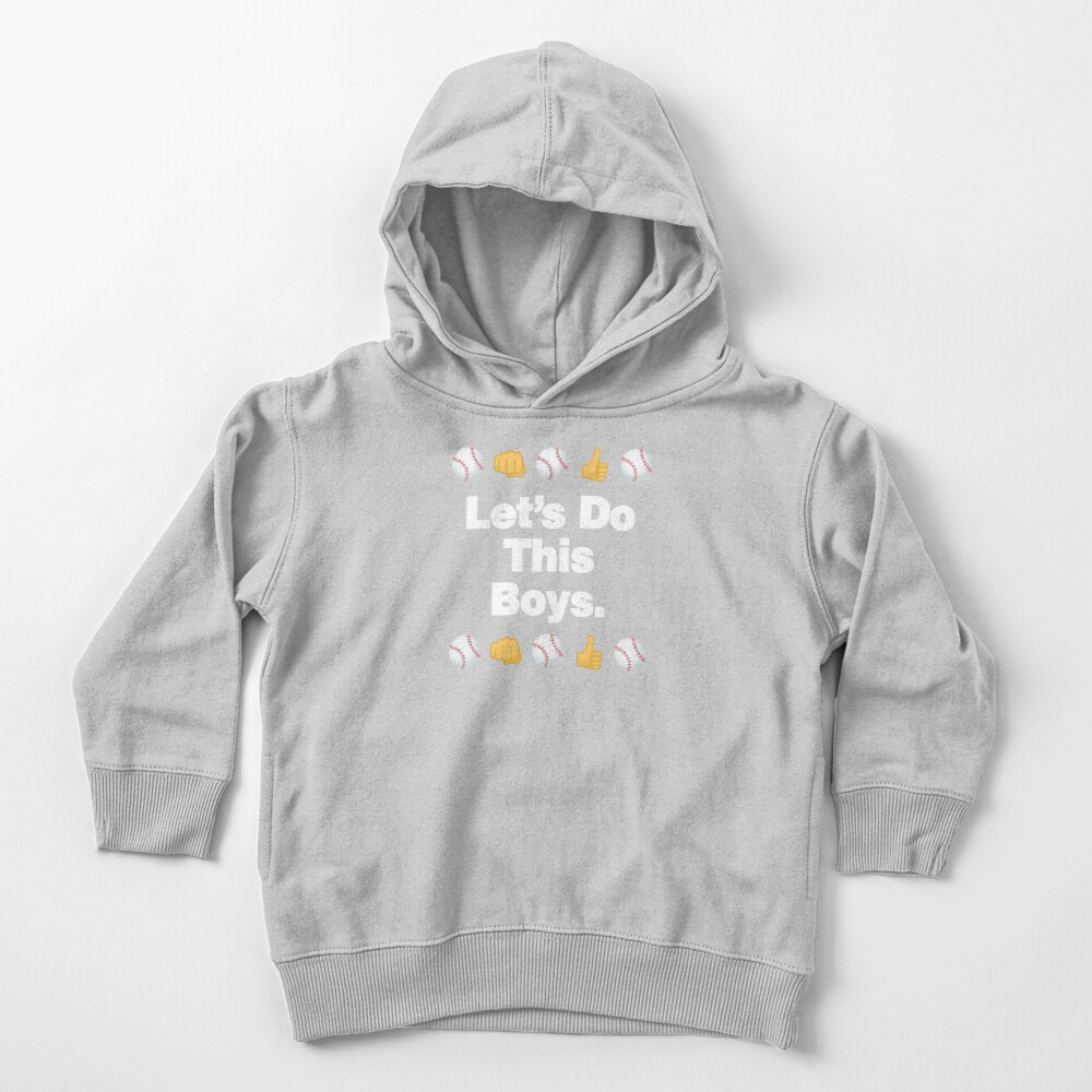 Lets Do This Boys Emoji Funny Baseball Saying Toddler Pullover Hoodie