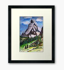 The Matterhorn Zermatt Switzerland Framed Print