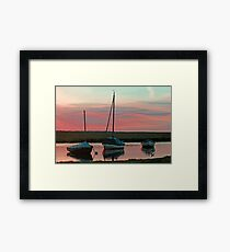 Blakeney Boats Framed Print