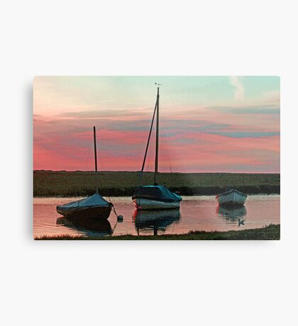 Blakeney Boats Metal Print