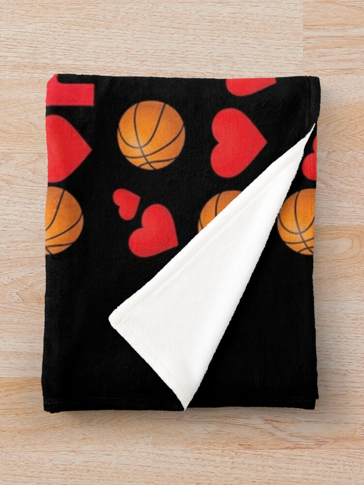 Alternate view of Basketball Emoji Be Your Valentine if your Name is Luka Throw Blanket