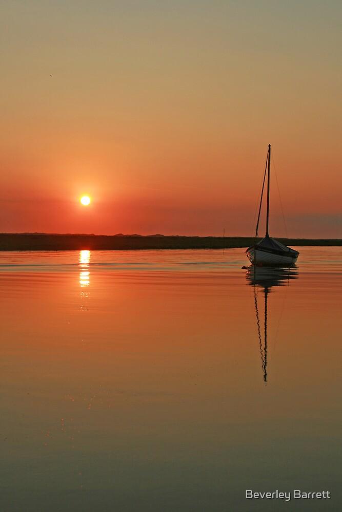 Sunset at Blakeney by Beverley Barrett