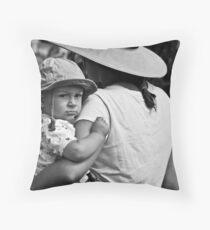 Cynical Poser Throw Pillow