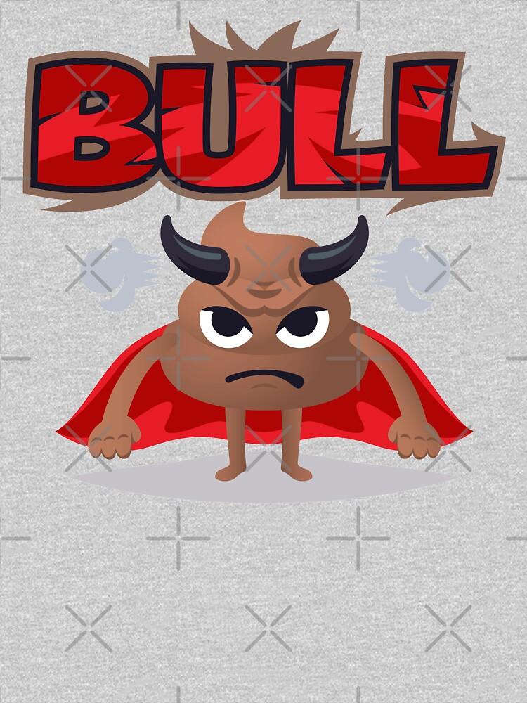 Bull Poo Emoji Funny Cartoon Animal by el-patron