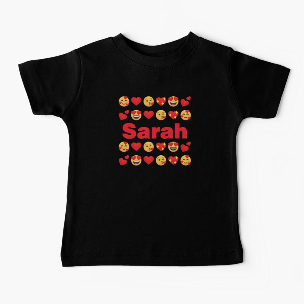 Sarah Emoji My Love for Valentines day Baby T-Shirt