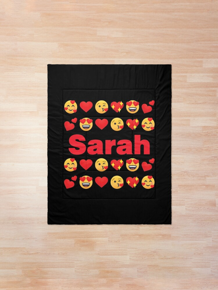 Alternate view of Sarah Emoji My Love for Valentines day Comforter