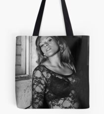 Woman in Black & White Tote Bag