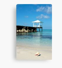 bahamas beach vertical Canvas Print