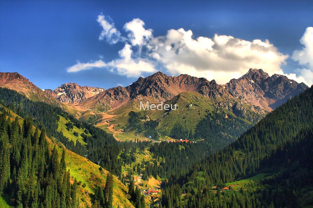 Mountain landscape, Tien Shan,   Central Asia by Medeu