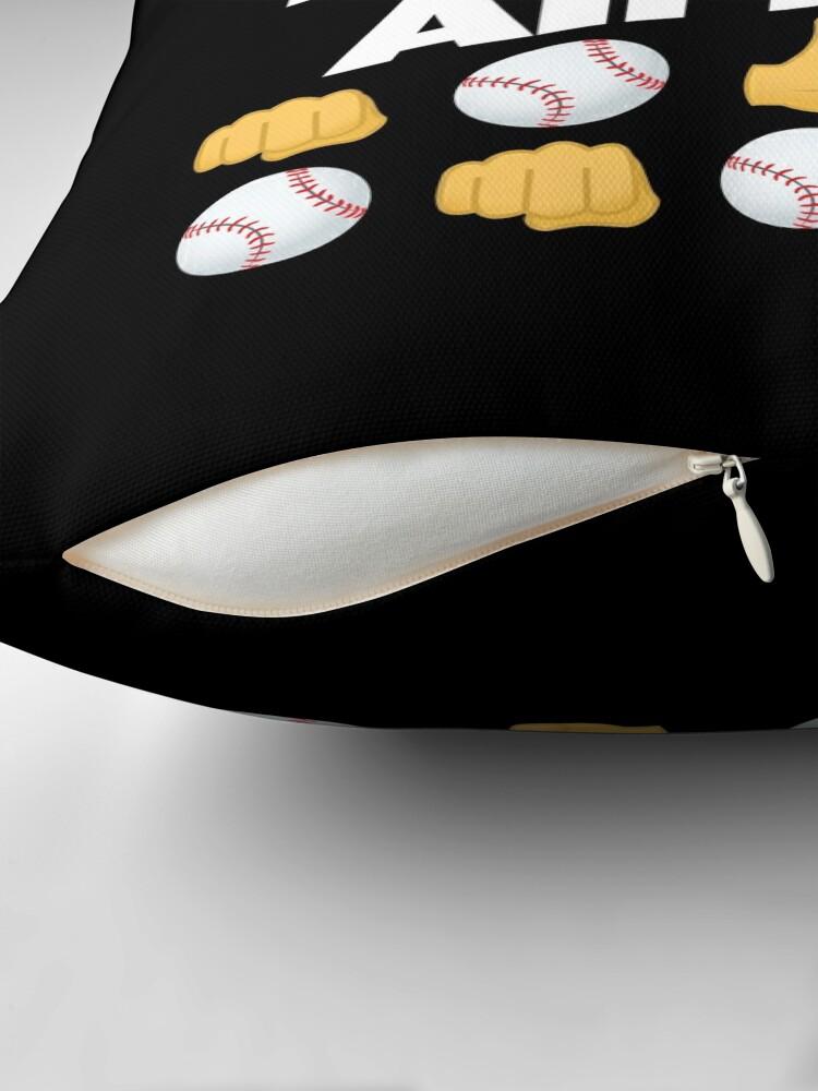 Alternate view of Baseball All Day Emoji Funny Baseball Saying Floor Pillow