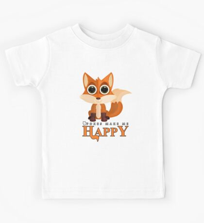 Foxes Make Me Happy Kids Clothes